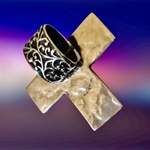 SILPADA Sterling Silver Cross Pendant Reversible